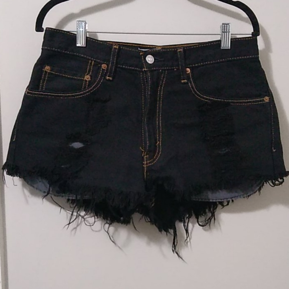 Levi's 550 Relaxed Fit Destroyed Shorts